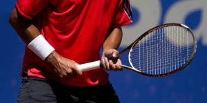 picture of a tennis player with a racket