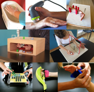 image showing the different types of tools used to perform hand therapy