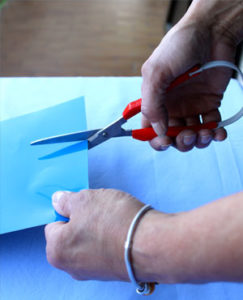 image showing using scissors as a hand therapy exercise