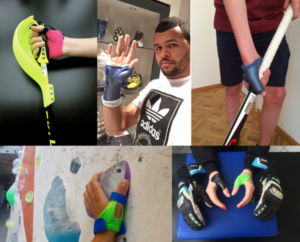 image showing different types of assistive splints